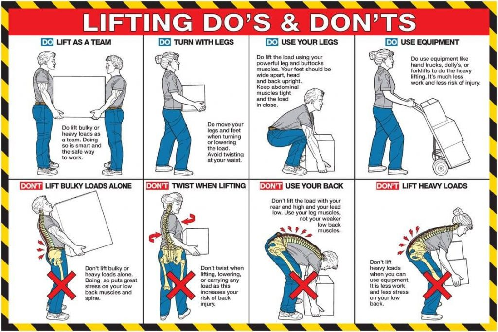 correct position to lift up