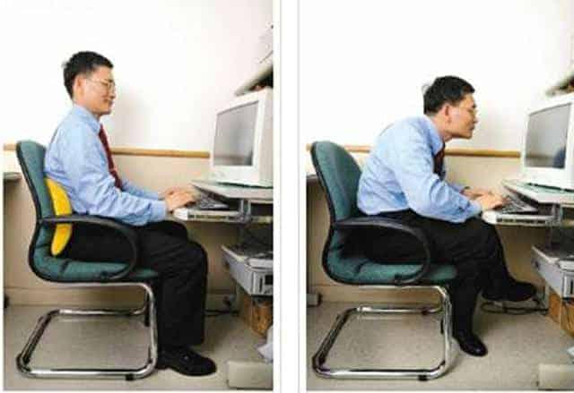 hunching over keyboard posture