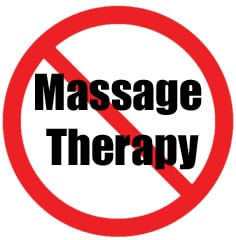 When to avoid massage therapy