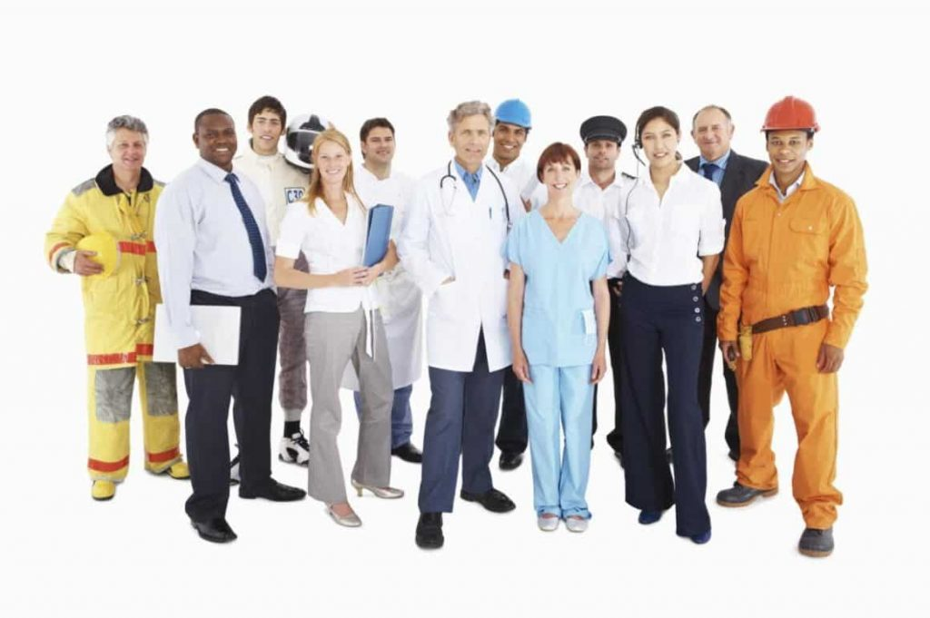 physiotherapist working with business and employers